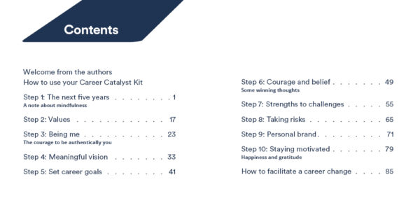 CCS Career Catalyst kit book sample pages