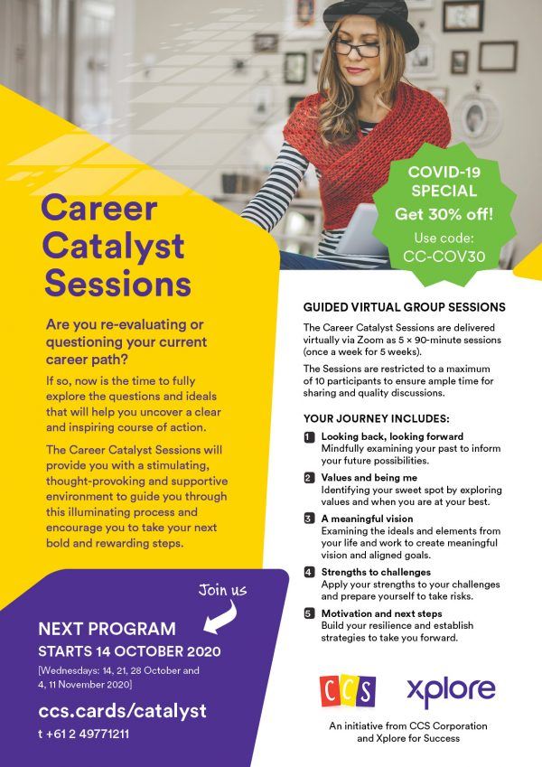 Career Catalyst Sessions-Program Brochure page 1