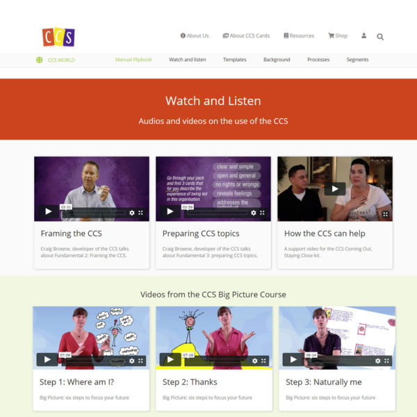 CCS World screen shot - CCS image cards - watch and listen