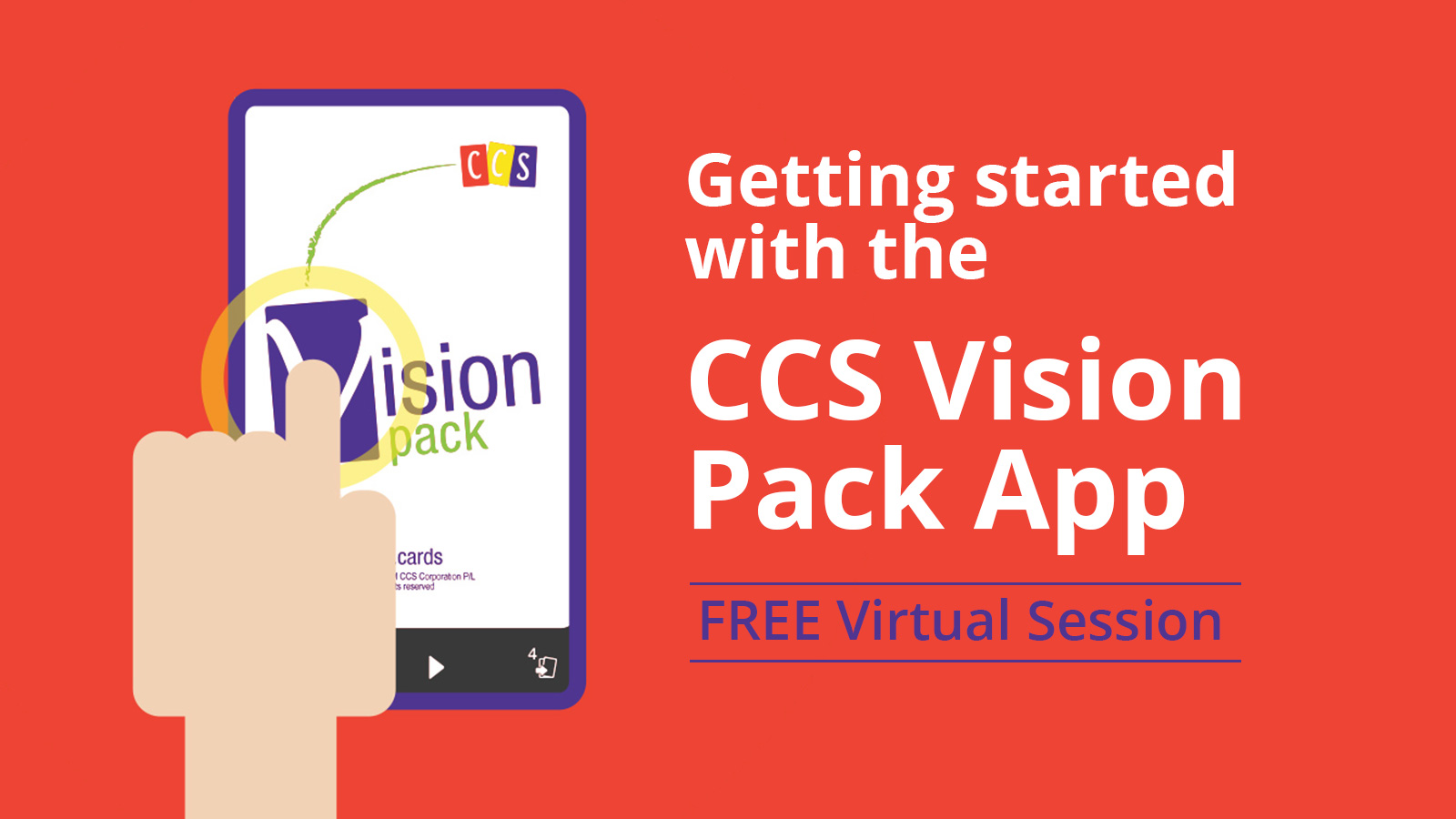 Event banner - Getting started with the CCS Vision Pack App