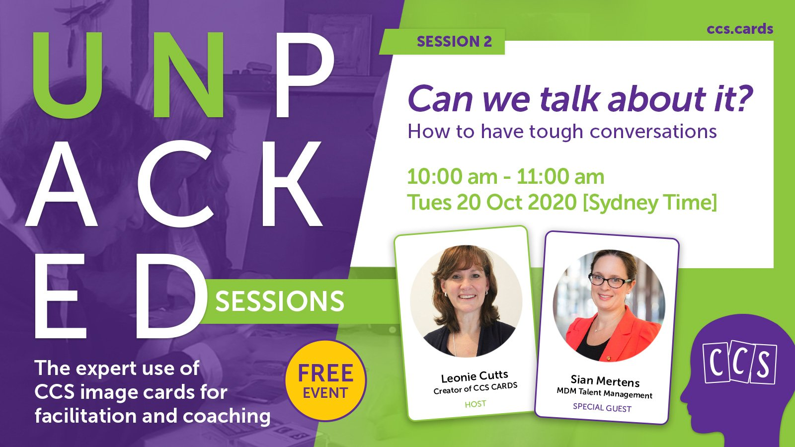 CCS Unpacked Session 2: Can we talk about it? How to have tough conversations - virtual event banner