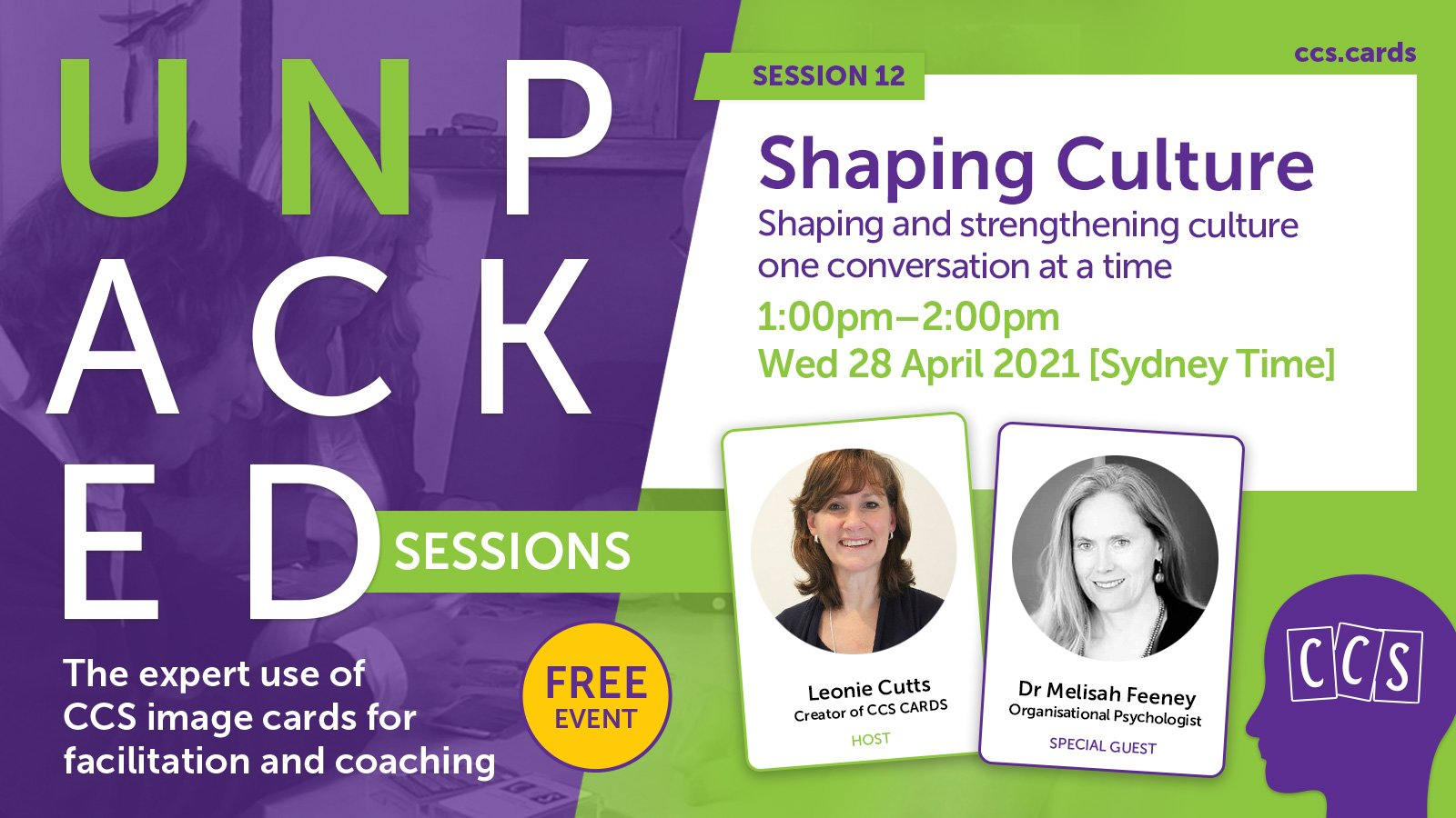 CCS Unpacked Session - Shaping Culture event banner