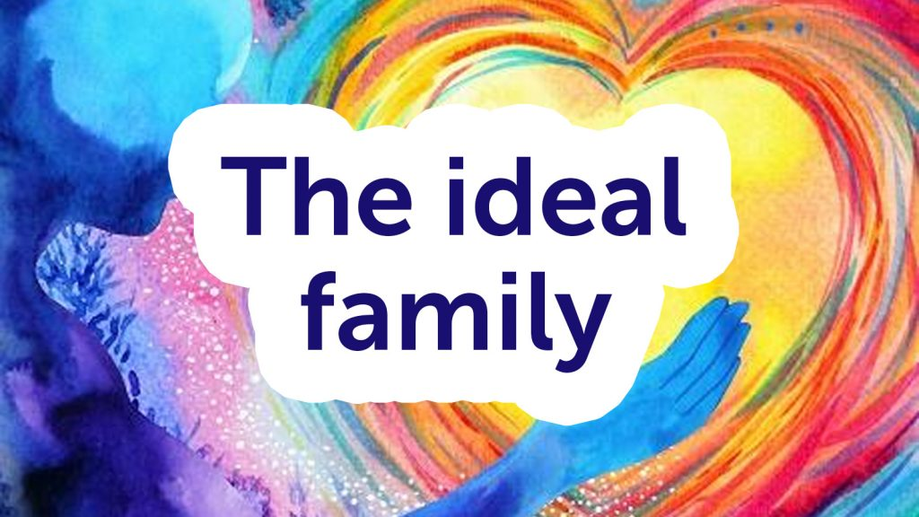 event banner - the ideal family