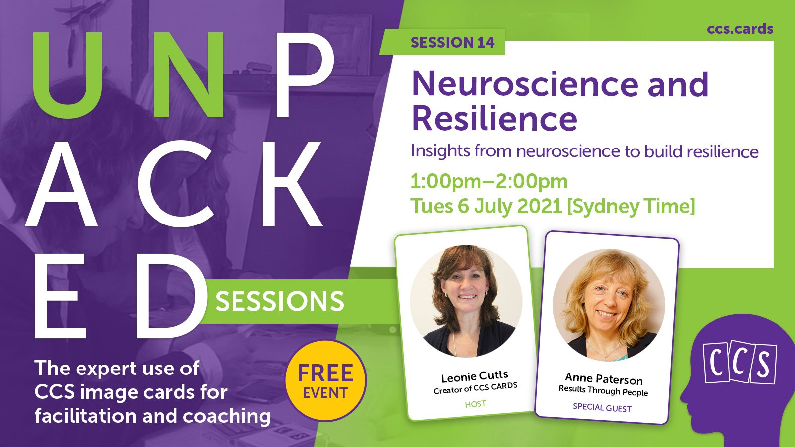 Unpacked event banner: Neuroscience and resilience