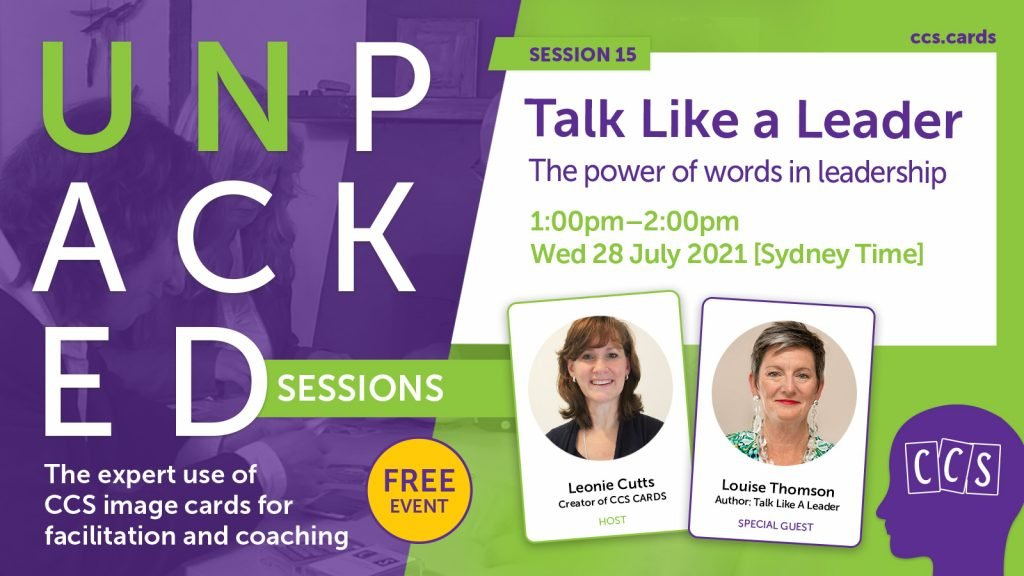 Unpacked event banner: Talk Like a Leader